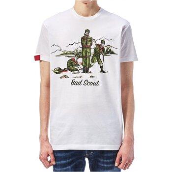 Textiel Heren T-shirts korte mouwen Dsquared S74GD0361 Wit