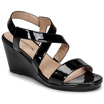 Schoenen Dames Sandalen / Open schoenen JB Martin QUETZA Zwart