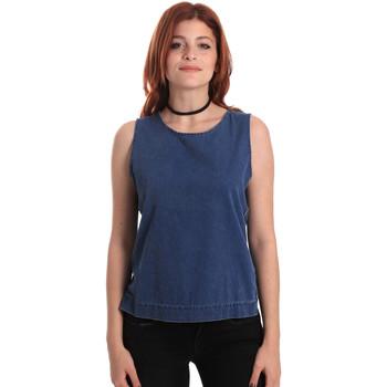 Textiel Dames Tops / Blousjes Fornarina SE175J70D883SK Blauw