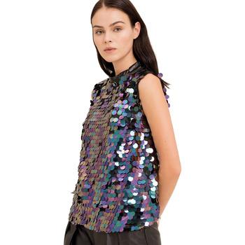 Textiel Dames Tops / Blousjes Fracomina FR19FP508 Zwart