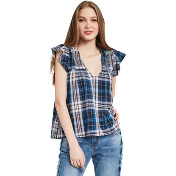 Textiel Dames Tops / Blousjes Gaudi 011BD45007 Blauw
