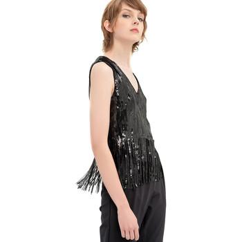 Textiel Dames Tops / Blousjes Fracomina FR20SP503 Zwart