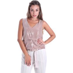 Textiel Dames Tops / Blousjes Fracomina FR20SMARISA Beige