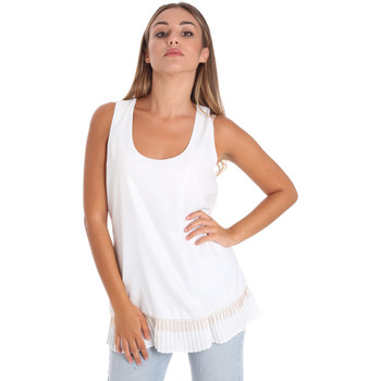 Textiel Dames Tops / Blousjes Fracomina FR20SM014 Wit
