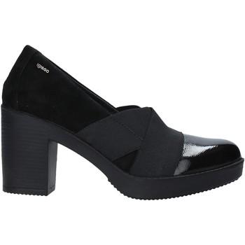 Schoenen Dames Mocassins IgI&CO 6152900 Zwart