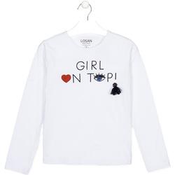 Textiel Kinderen T-shirts met lange mouwen Losan 024-1021AL Wit