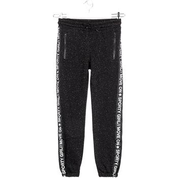 Textiel Meisjes Trainingsbroeken Losan 024-6010AL Zwart