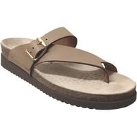 Schoenen Dames Leren slippers Mephisto HELEN Camel leer