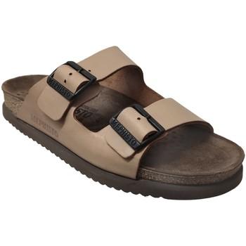 Schoenen Heren Leren slippers Mephisto NERIO Camel leer