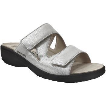 Schoenen Dames Leren slippers Mobils By Mephisto Geva Ecru