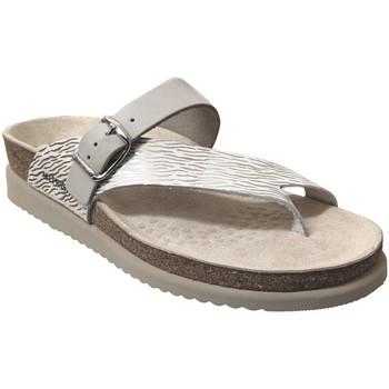Schoenen Dames Leren slippers Mephisto Helen mix Lichtgrijs