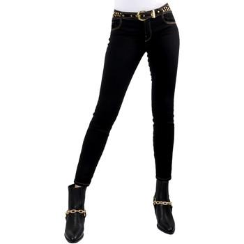 Textiel Dames Skinny jeans Versace A1HVB02HAPV4P899 Zwart
