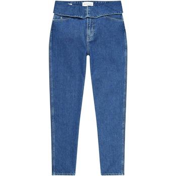 Textiel Dames Straight jeans Calvin Klein Jeans J20J214013 Blauw