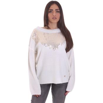 Textiel Dames Truien Gaudi 021BD53044 Wit