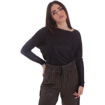 Textiel Dames T-shirts met lange mouwen Gaudi 021FD64014 Zwart