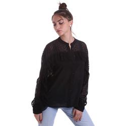Textiel Dames Overhemden Fracomina F120W15014W00401 Zwart