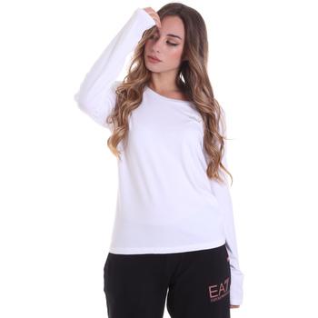 Textiel Dames T-shirts met lange mouwen Ea7 Emporio Armani 6HTT04 TJ28Z Wit