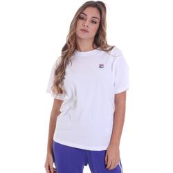 Textiel Dames T-shirts korte mouwen Fila 682319 Wit
