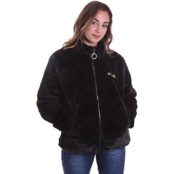 Textiel Dames Mantel jassen Fila 688396 Zwart