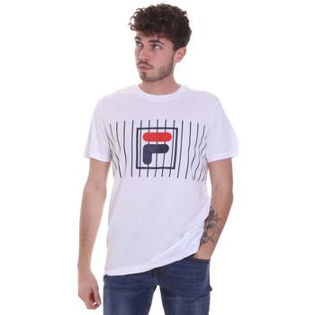 Textiel Heren T-shirts korte mouwen Fila 687989 Wit