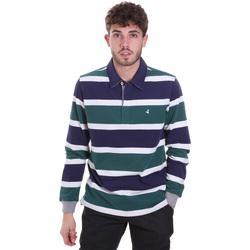 Textiel Heren Polo's lange mouwen Navigare NV30026 Blauw