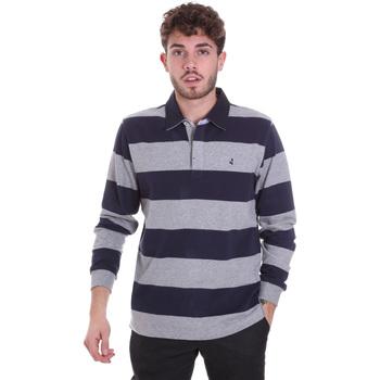 Textiel Heren Polo's lange mouwen Navigare NV30029 Blauw
