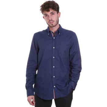 Textiel Heren Overhemden lange mouwen Navigare NV91135 BD Blauw