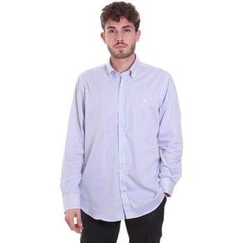 Textiel Heren Overhemden lange mouwen Navigare NV91111 BD Blauw