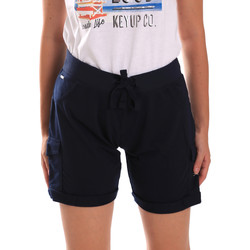 Textiel Dames Korte broeken / Bermuda's Key Up 5G75F 0001 Blauw