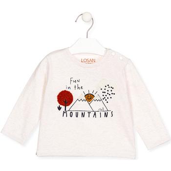Textiel Meisjes T-shirts met lange mouwen Losan 027-1018AL Beige