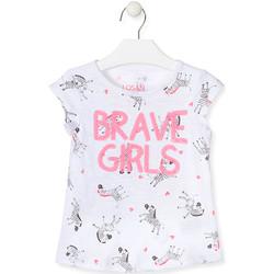 Textiel Meisjes T-shirts & Polo's Losan 017-1016AL Wit