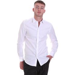 Textiel Heren Overhemden lange mouwen Antony Morato MMSL00628 FA400079 Wit