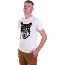 Textiel Heren T-shirts korte mouwen Antony Morato MMKS01878 FA100144 Wit