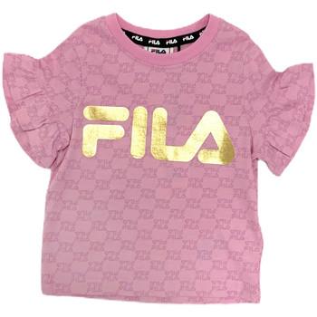 Textiel Meisjes T-shirts korte mouwen Fila 688038 Roze