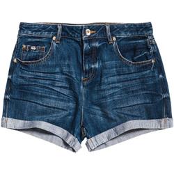Textiel Dames Korte broeken / Bermuda's Superdry G71800ER Blauw