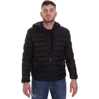 Textiel Heren Dons gevoerde jassen Lumberjack CM95222 001 416 Zwart