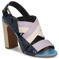 Schoenen Dames Sandalen / Open schoenen Rochas NASTR Zwart / Violet / Ecru