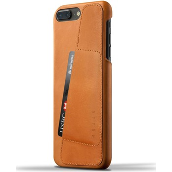 Tassen Telefoontassen Mujjo Leather Wallet Case iPhone 7 Plus Tan Bruin