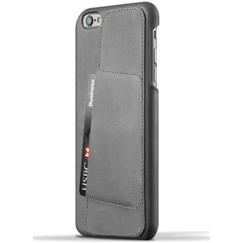 Tassen Telefoontassen Mujjo Leather Wallet Case 80º iPhone 6/6S Plus Gray Grijs
