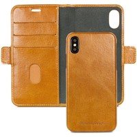 Tassen Telefoontassen Dbramante1928 Lynge Leather Wallet iPhone X / XS Tan Bruin