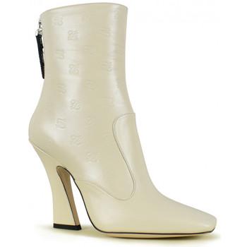 Schoenen Dames Enkellaarzen Vintage  Wit