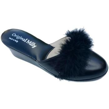 Schoenen Dames Leren slippers Milly MILLYCIGNOner5 nero