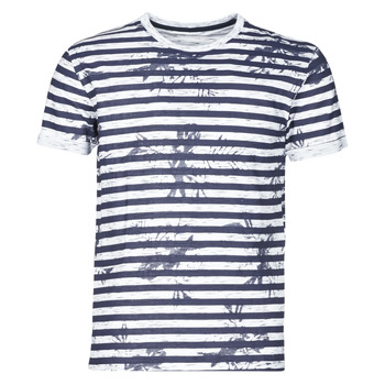Textiel Heren T-shirts korte mouwen Yurban OLORD Marine / Wit