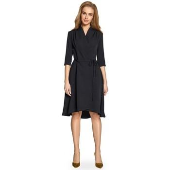 Textiel Dames Korte jurken Style S099 Asymmetrische zoom a-lijn jurk - zwart