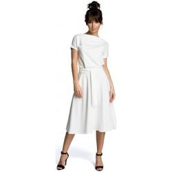 Textiel Dames Korte jurken Be B067 Uitlopende jurk - ecru