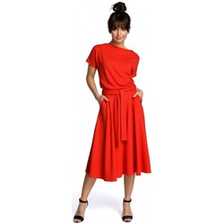 Textiel Dames Korte jurken Be B067 Uitlopende jurk - rood