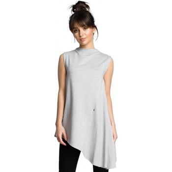Textiel Dames Tops / Blousjes Be B069 Asymmetrische mouwloze top - grijs