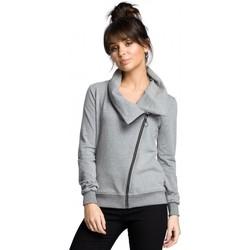 Textiel Dames Sweaters / Sweatshirts Be B071 sweatshirt met rits - grijs