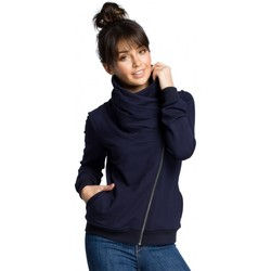 Textiel Dames Sweaters / Sweatshirts Be B071 sweatshirt met rits - marineblauw