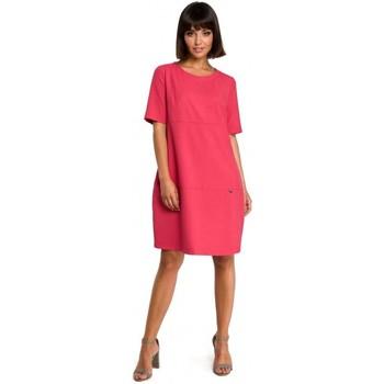 Textiel Dames Korte jurken Be B082 Breezy shift jurk - roze